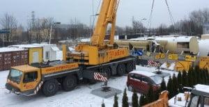 Pierwsza realizacja zadania żurawia samojezdnego Liebherr LTM 1250 w ofercie FUSUB Sołtys