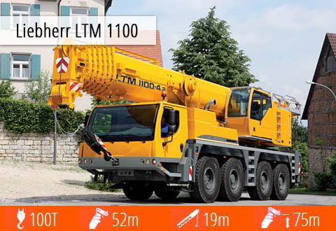 Specyfikacja techniczna żurawia samojezdnego Liebherr LTM 1100