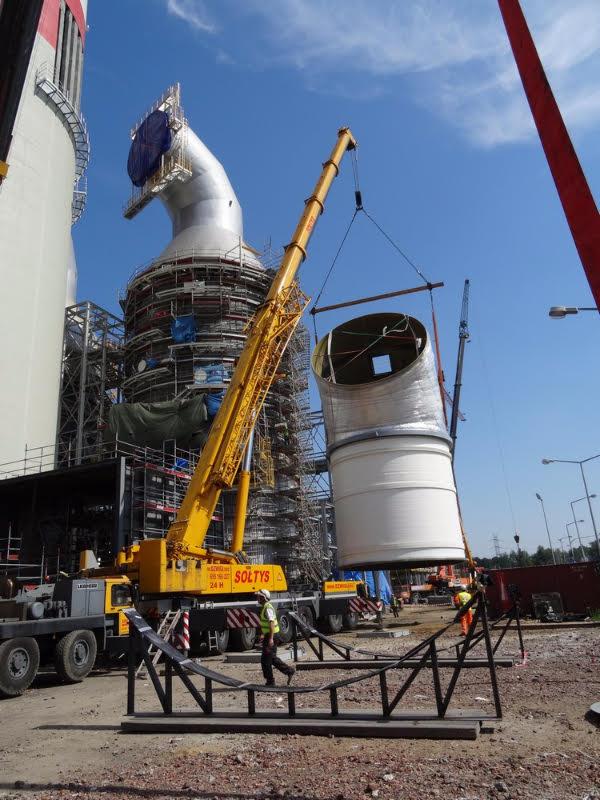 Było to już kolejne zlecenie dźwigów na terenie elektrowni w Rybniku.