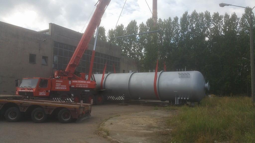 Dźwig Grove ładuej bojler w Czechowicach Dziedzicach