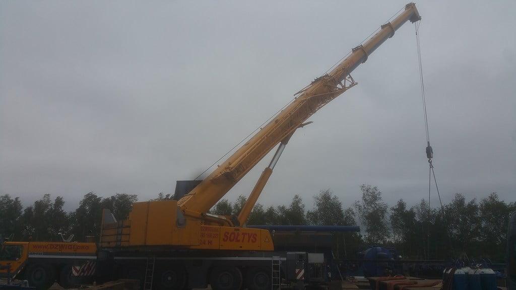 Najcięższy dźwig pracujący w Dąbrowie górniczej