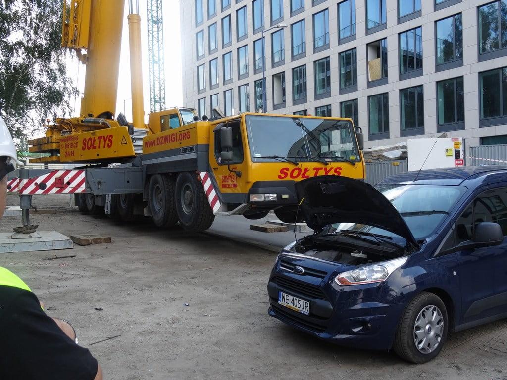 Dźwigi Katowice - w pracy Liebherr LTM 1250