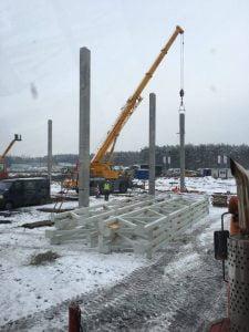 Wynajem dźwigów na terenie miasta Mikołów - realizacja fabryka