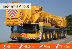 Ciężki Żuraw Liebherr LTM 1500