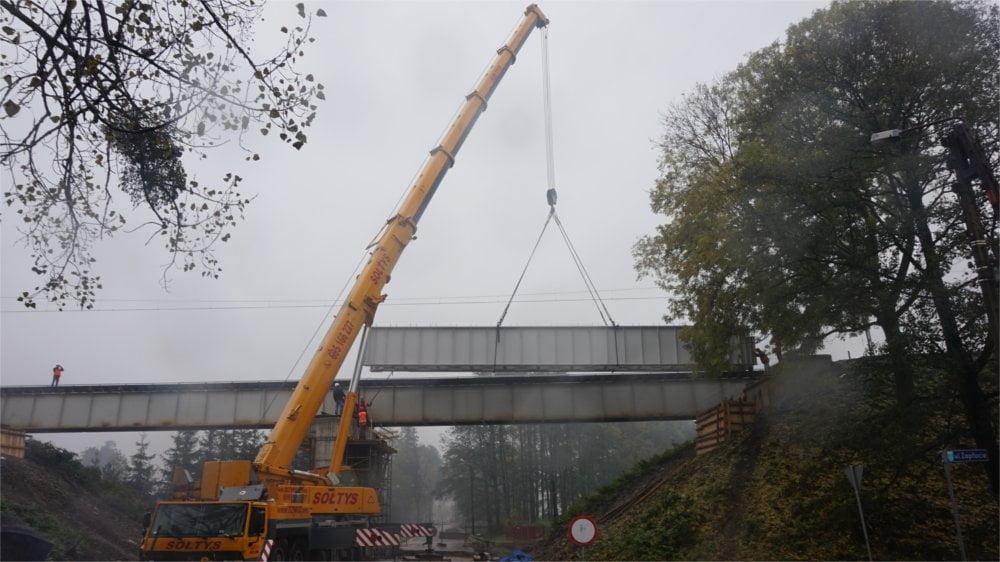 Montaż mostu kolejowego w Warszowicach 4