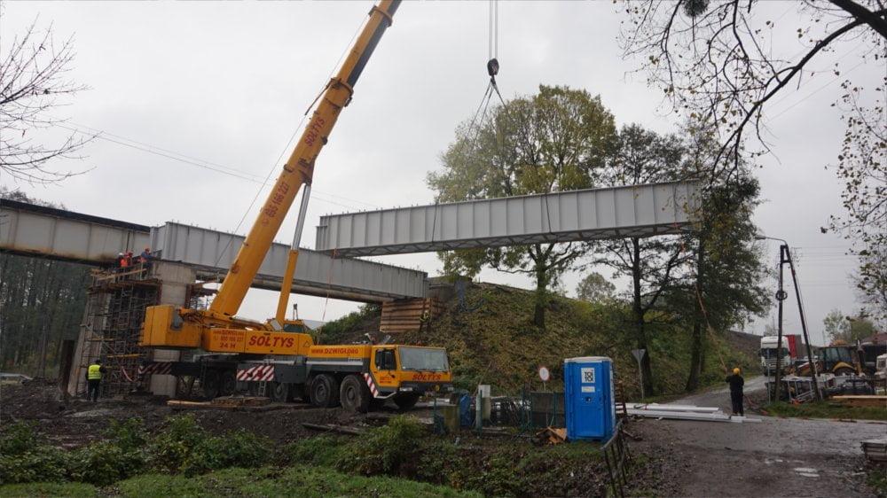 Montaż mostu kolejowego w Warszowicach 7