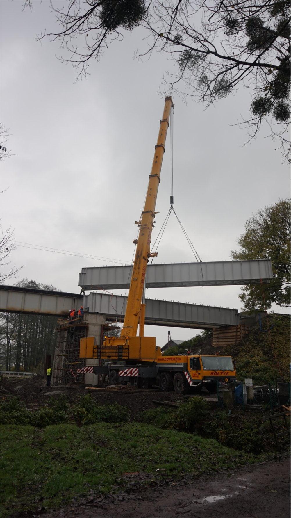 Montaż mostu kolejowego w Warszowicach 8