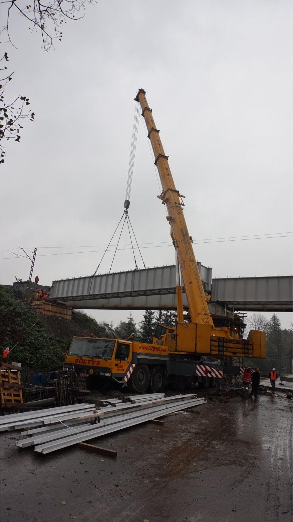 Montaż mostu kolejowego w Warszowicach9