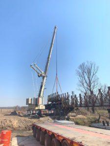 Realizacja usług dźwigowych w mieście Lubaczów.