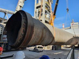 Usługi dźwigowe świadczone na najwyższym poziomie. rozbiórka cementowni w Rudnikach we współpracy z firmą Mega-Pol.